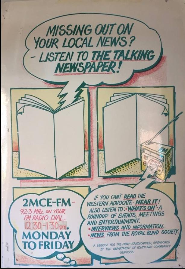 2MCE-TALKING-NEWSPAPER-POSTER-ARCHIVE-80s - RPH Australia